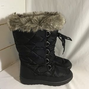 New Snow Boots Water Resistant Side Zip Fur Lined